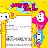 (No ar em 10/05/03) Comentários: Um layout bem infantil pra quebrar o clima mais sério do layout passado. Personagem Ucky Monkey da San-X.
