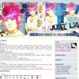 """(No ar em 01/03/06) Comentários: Finalmente um layout de Psycho le Cemu (ou parte da banda!!! ^_^"""") , uma banda de J-Rock! O layout só existe por causa da Marya, que me deu um template de LJ, daí eu peguei gosto e comecei a navegar, descobrindo um monte de comunidades com resources incríveis!!! @_@ Depois de mais de 10h pegando brushes, texturas, scans e estampas, acabou dando em layout. n.nFoi a primeira vez que eu fiz o layout do blog centralizado em uma tabela 100%."""