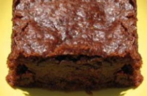 Receita de brownie com calda de chocolate