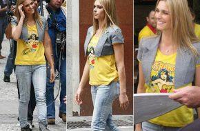Fernanda Lima com camiseta da Mulher Maravilha