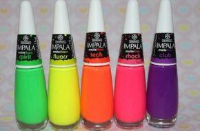Linha MatteFluors da Impala e alternativas pra unhas neon