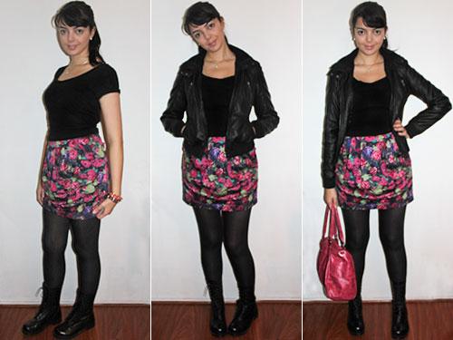 e99c0b3d8 Camiseta preta Zara • Meia calça fio 60 opaca Trifil • Maxi bolsa pink C A  • Pulseiras de couro e corrente Pixie Dust