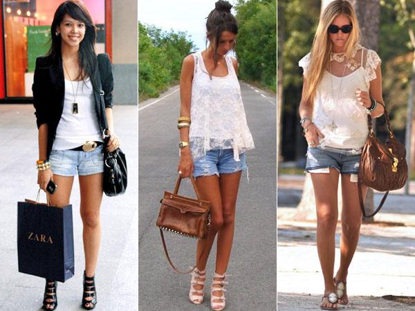 26d60fb3c Os três exemplos das imagens são relativamente parecidos e gostei de todos,  mas vale lembrar que nem todos os shorts jeans são assim, né?