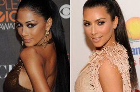 Parece mas não é: Nicole Scherzinger e Kim Kardashian