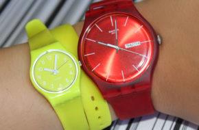Relógios coloridos da Swatch