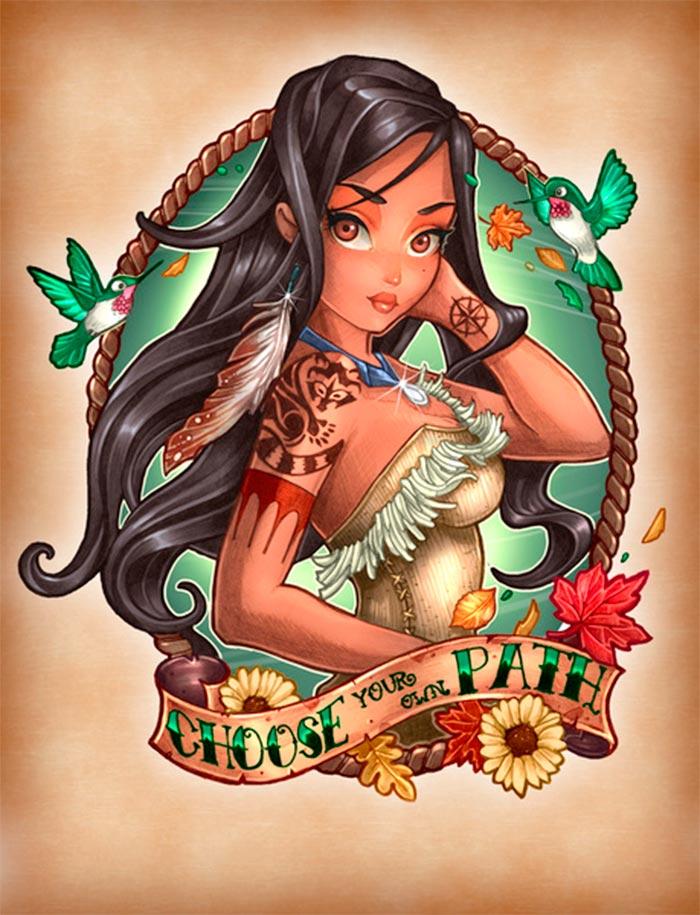 tatuagem-pocahontas