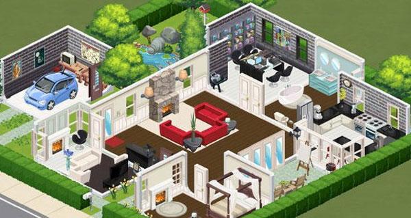Casas Habblet ~ The Sims Social, o The Sims do Facebook Just Lia Por Lia Camargo