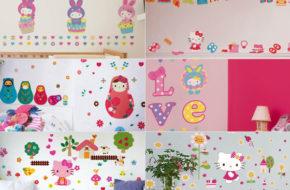 Skins pra celular e adesivos de parede da Hello Kitty