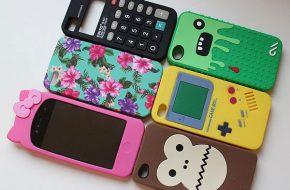 Capinhas de iPhone compradas em Londres