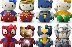 Hello Kitty e outros personagens