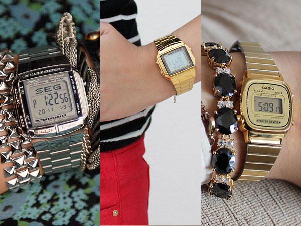 9e90de60d51 E foi meu deliiiiiiiiirio de viagem encontrar variações desse tipo de  relógio agora em Londres! Os 2 com a pulseira estampada são da Timex