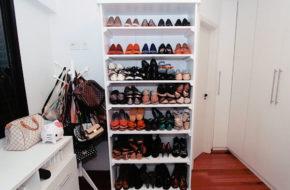 Estante de livros pra guardar sapatos