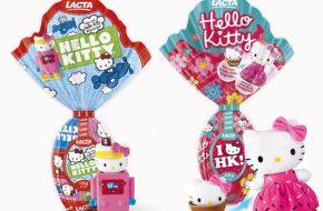 Ovo de Páscoa e Bala da Hello Kitty