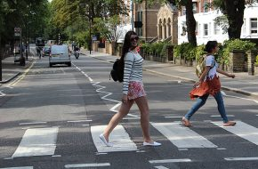 Londres – Abbey Road, Look do dia: Caveira e flores