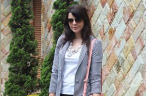 Look do dia: Blazer listrado