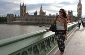 Londres – Passeio de barco, London Eye, Look do dia: Tons neutros