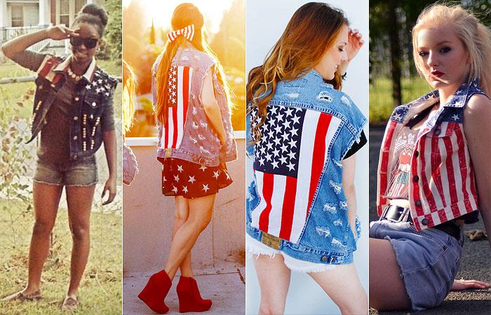 Como Usar: Estampa da Bandeira Americana
