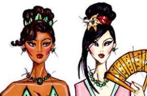 Ilustrações de moda da Disney