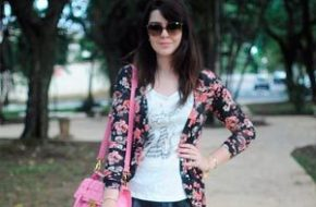 Look do dia: Cardigã floral e Bruna Vieira