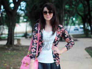 Look do dia: Cardigã floral e Bruna Vieira
