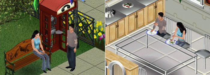 Eu e Dan no The Sims