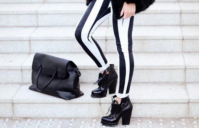 Como Usar: Calça Listrada de Preto-e-Branco