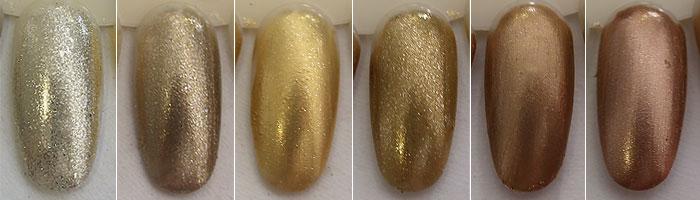 Starduster, Magic Flow, Secret Gold, Golden Shine, Gold Bronzer, Cooper Moon