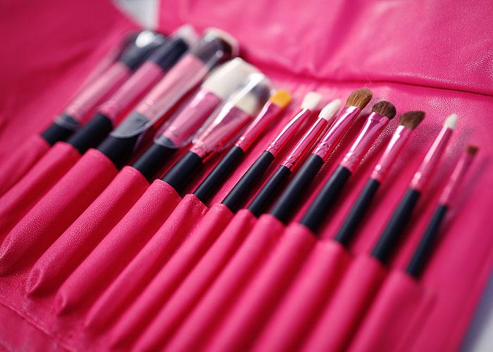 Os mesmos pinceis pra quem ama pink!