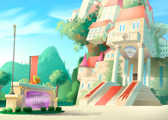 A escola-castelo Ever After High