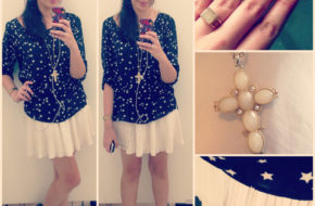 Looks da semana: Branco sobre branco, Estampa de estrelas, Calça listrada, Saia barroca, Casaco com manga de couro, Saia com bota