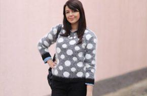Look do dia: Suéter de bolinhas
