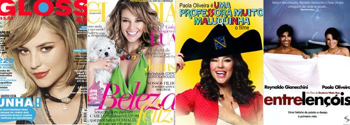 Em capas de revista e pôsteres de filmes