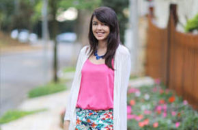 Look do dia: Floral e pink