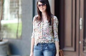 Look do dia: Short jeans e camisa estampada