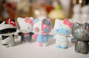 Compras da Hello Kitty na loja Sanrio de NY