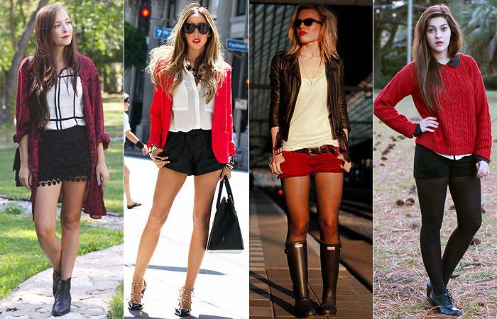 Como Usar: Branco + Preto + Vermelho