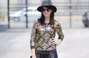 Look do dia: Moletom preto e dourado