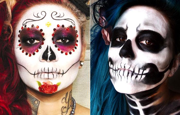 Resultado de imagem para caveira halloween maquiagem
