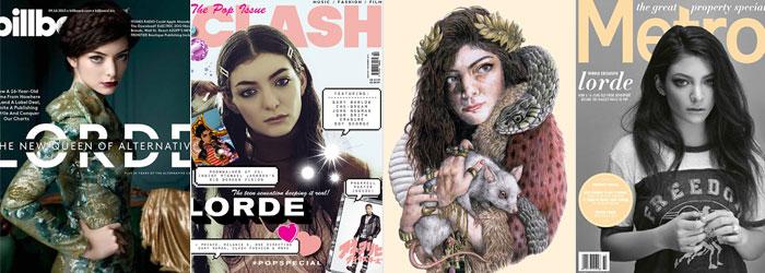 Lorde em publicações e a capa de seu EP