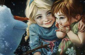 Princesas Disney em pintura a óleo