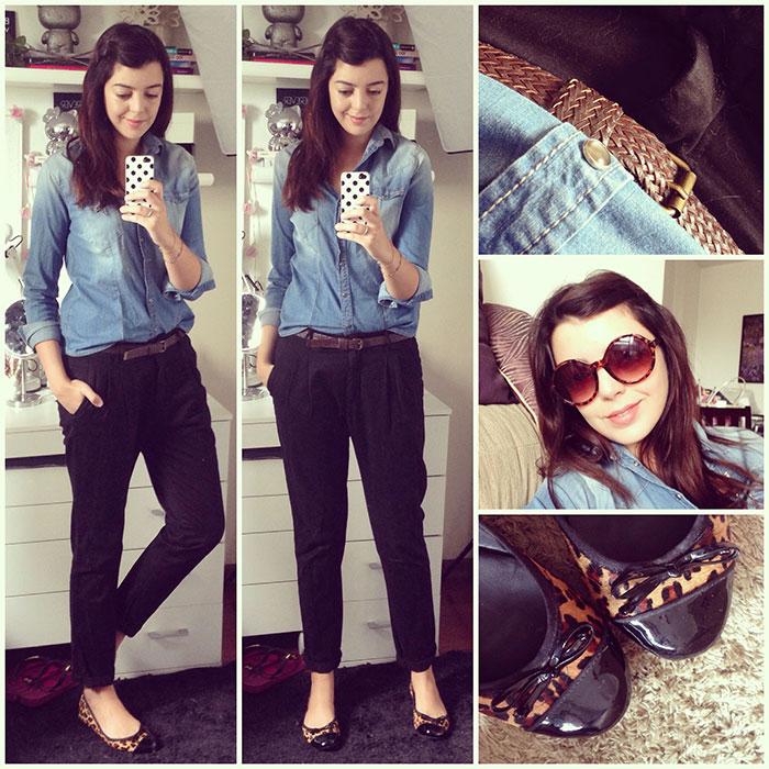 edd5fad667 Looks da semana  Camisa jeans e calça preta