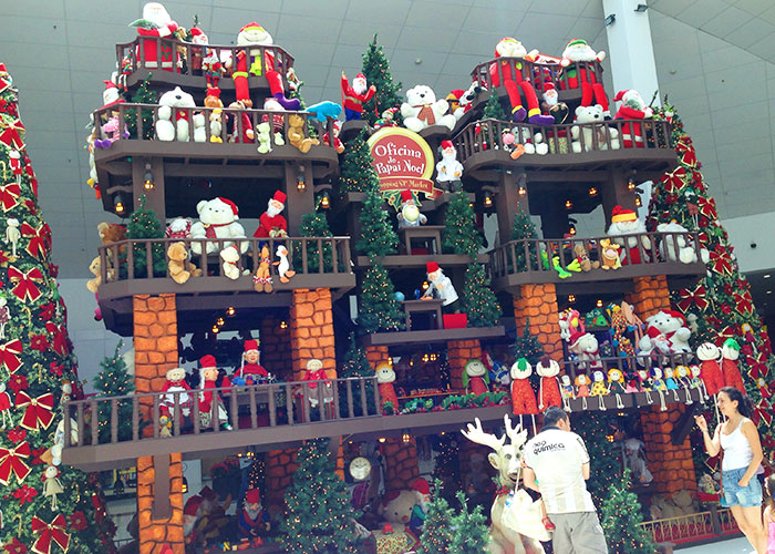 A decor desse ano é a Oficina do Papai Noel