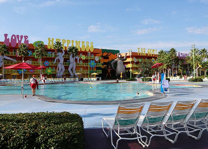 Uma das piscinas do complexo