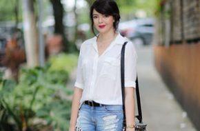 Look do dia: Camisa branca e short jeans