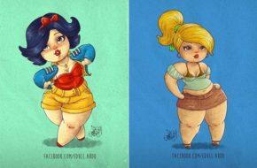 Princesas Disney Plus Size