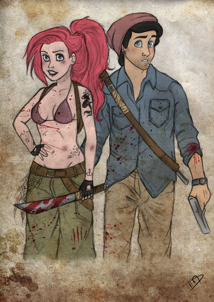 disney-thewalkingdead-ariel-eric