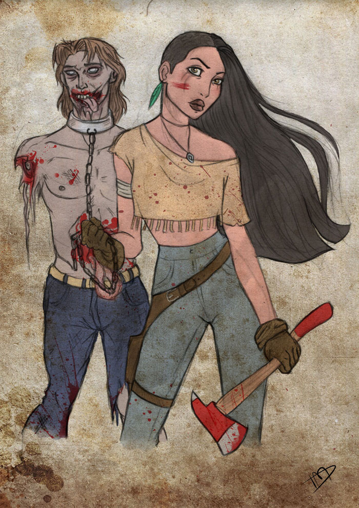 disney-thewalkingdead-johnsmith-pocahontas