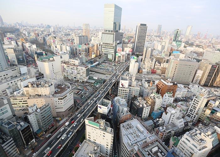 Vista do nosso quarto no Tower Tokyu