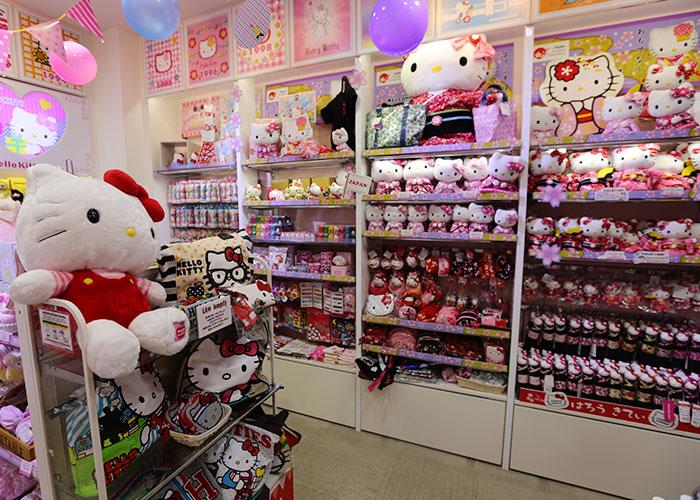 Área dedicada à Hello Kitty na Kiddy Land