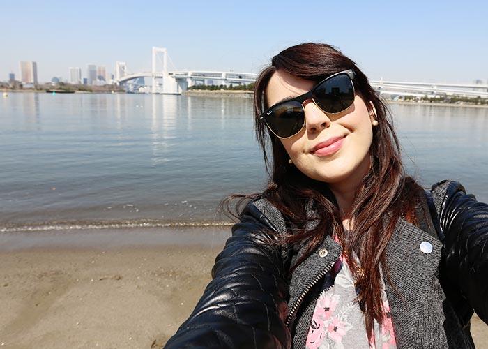 Não estava no roteiro: praia em Odaiba